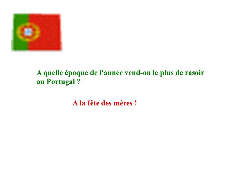 A quelle époque de l année vend-on le plus de rasoir au Portugal