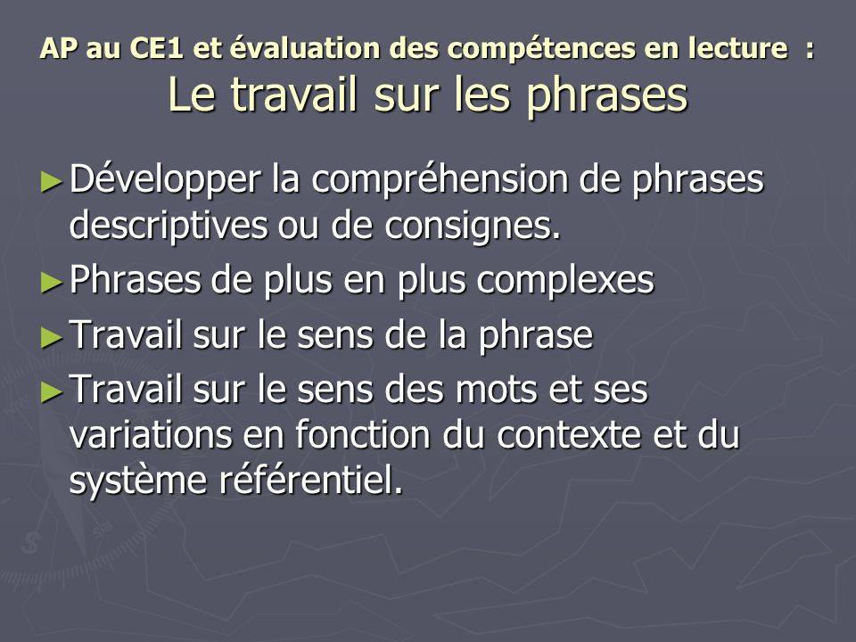Développer la compréhension de phrases descriptives ou de consignes.