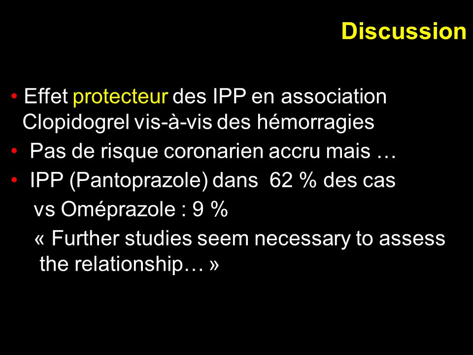 Discussion Effet protecteur des IPP en association