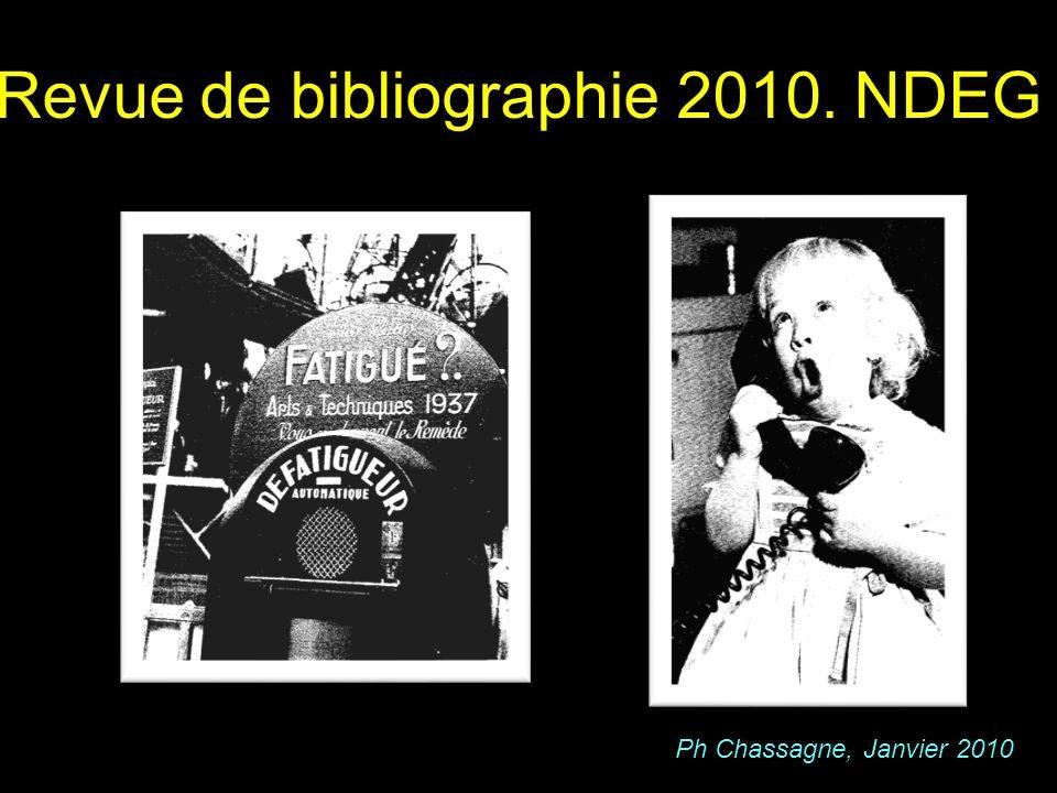 Revue de bibliographie 2010. NDEG
