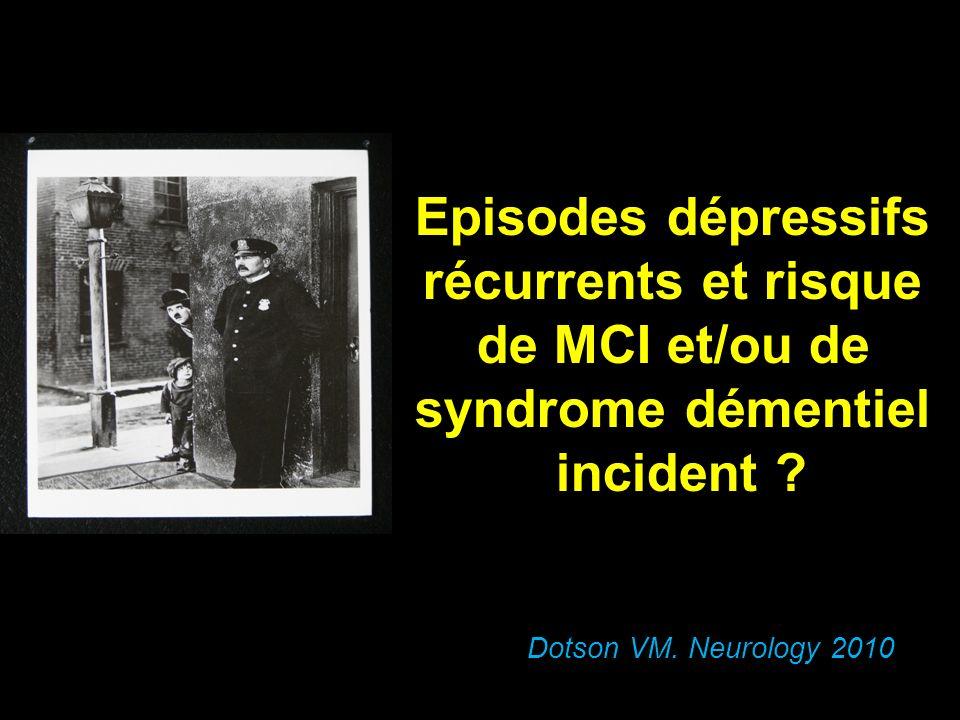 Episodes dépressifs récurrents et risque de MCI et/ou de