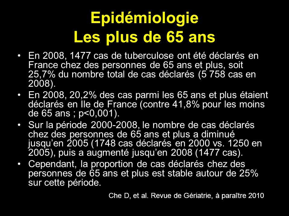 Epidémiologie Les plus de 65 ans