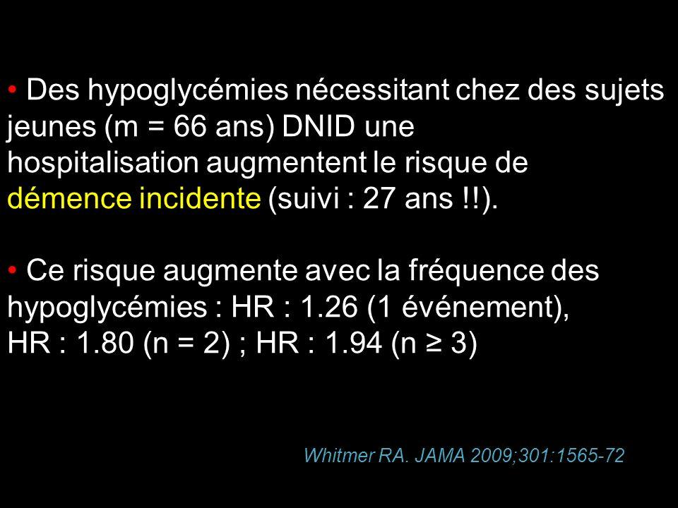 Des hypoglycémies nécessitant chez des sujets