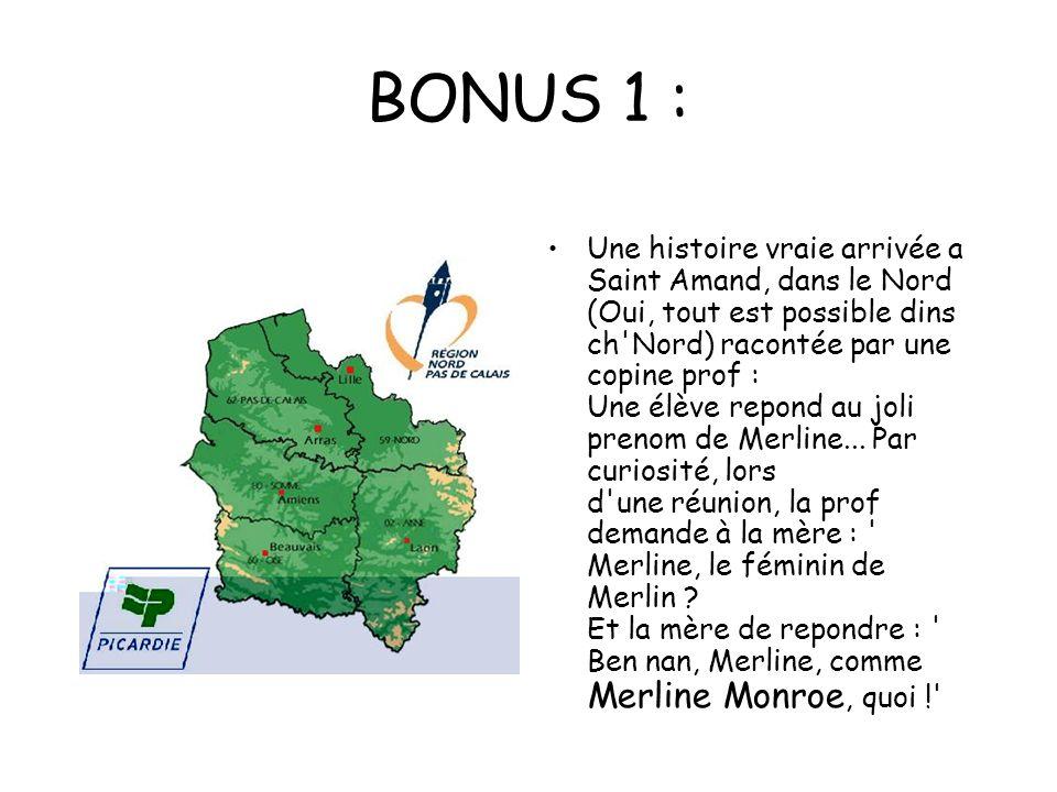BONUS 1 :