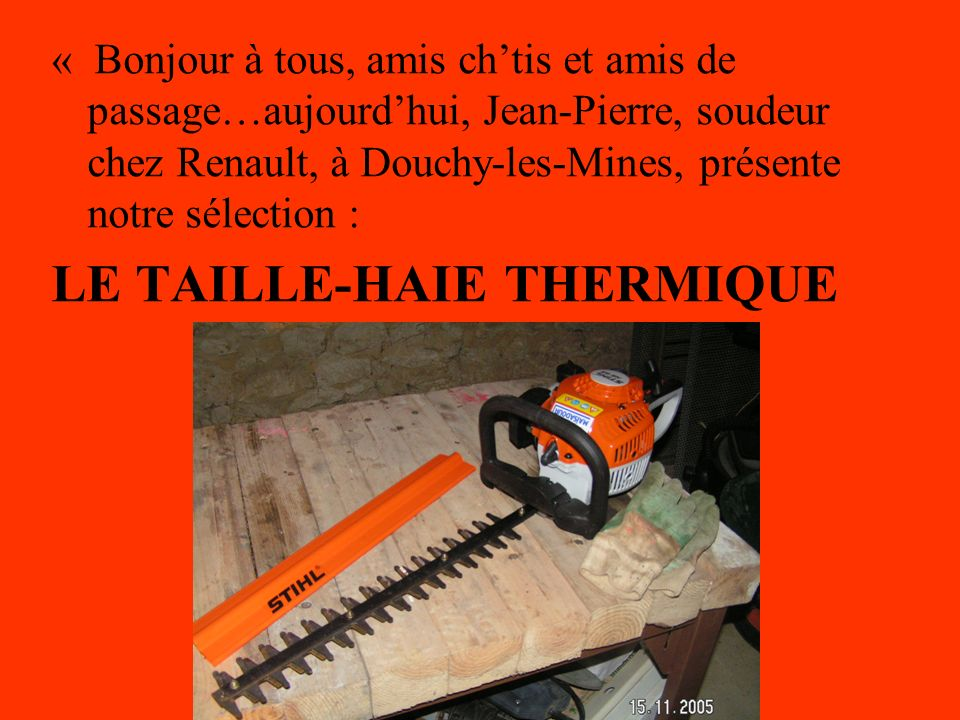 LE TAILLE-HAIE THERMIQUE