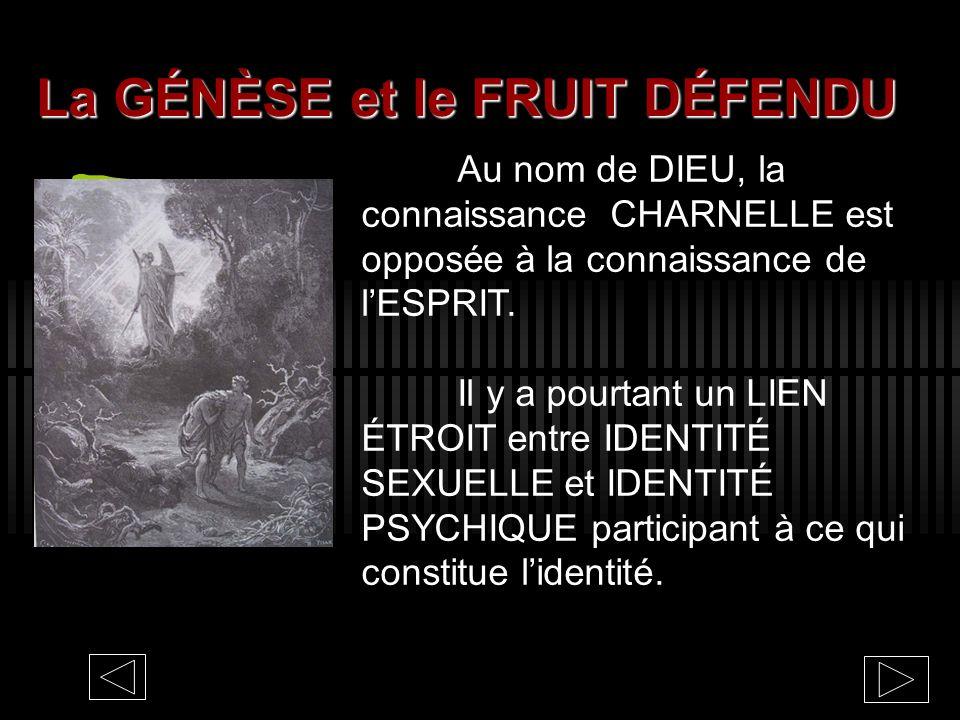 La GÉNÈSE et le FRUIT DÉFENDU
