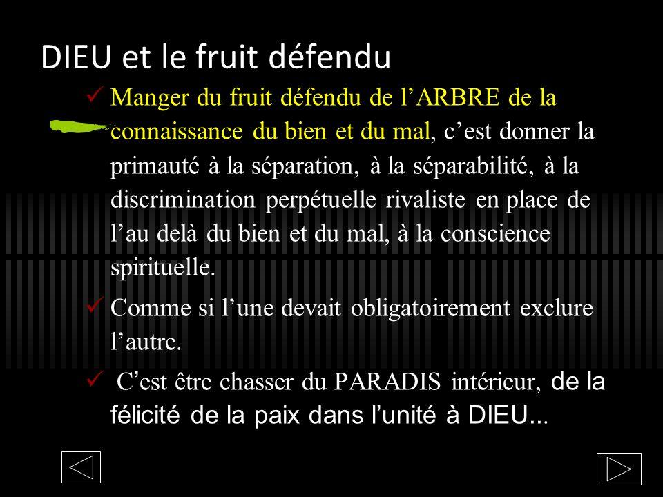DIEU et le fruit défendu