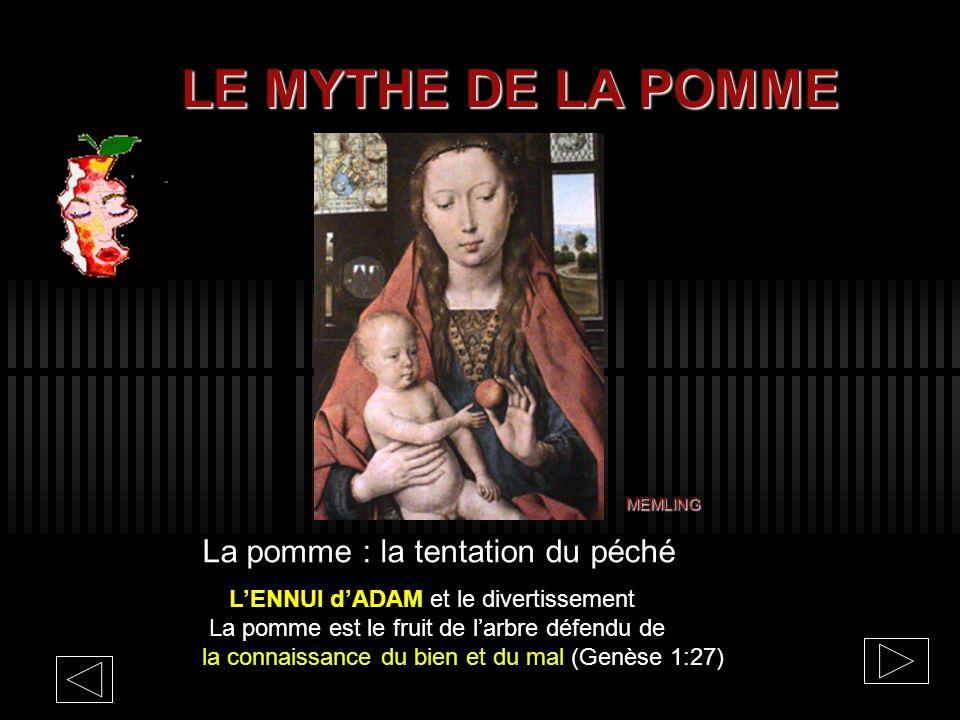 LE MYTHE DE LA POMME La pomme : la tentation du péché