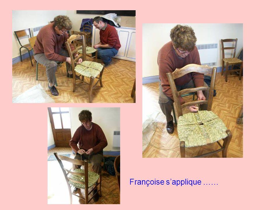 Françoise s'applique ……