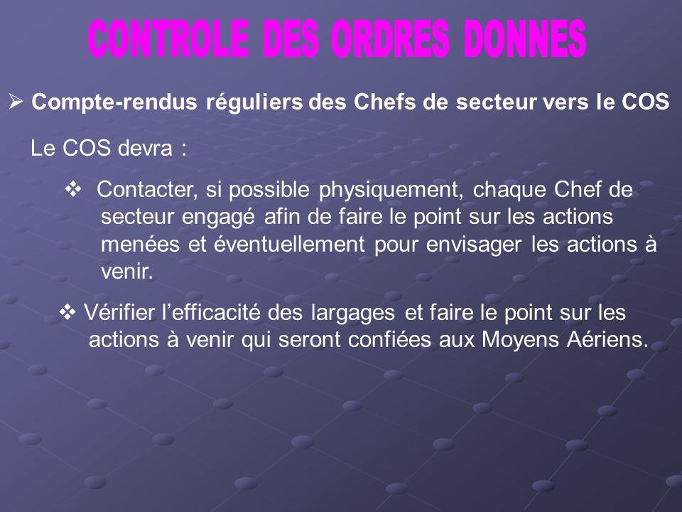 CONTROLE DES ORDRES DONNES
