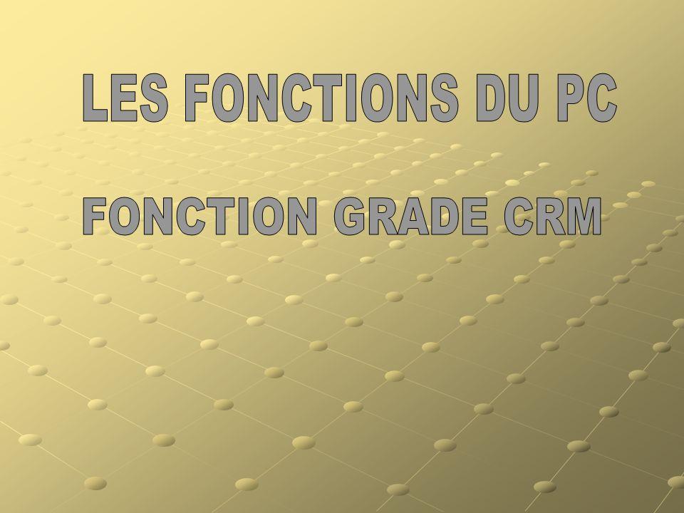 LES FONCTIONS DU PC FONCTION GRADE CRM