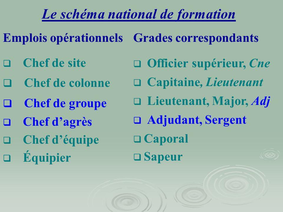 Le schéma national de formation