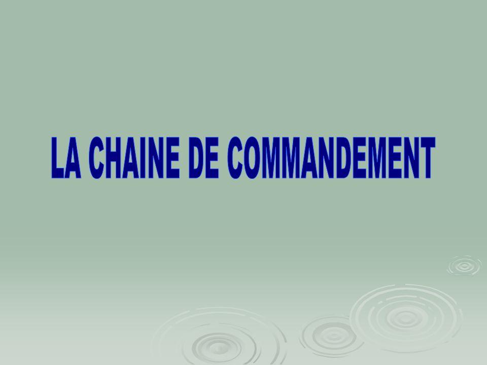 LA CHAINE DE COMMANDEMENT