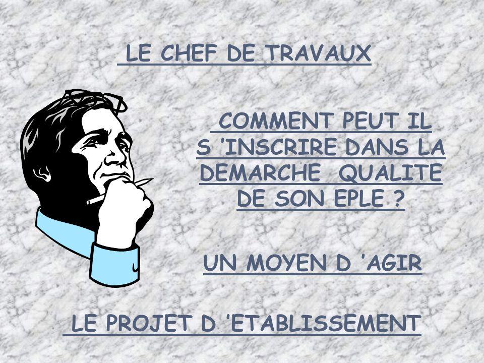 LE PROJET D 'ETABLISSEMENT