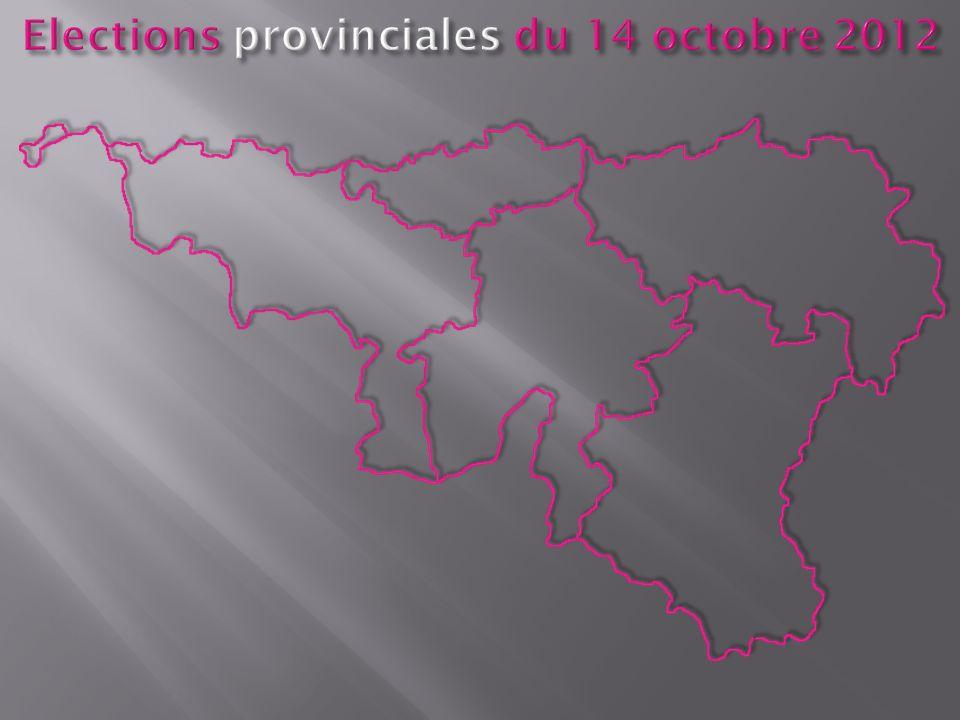 Elections provinciales du 14 octobre 2012