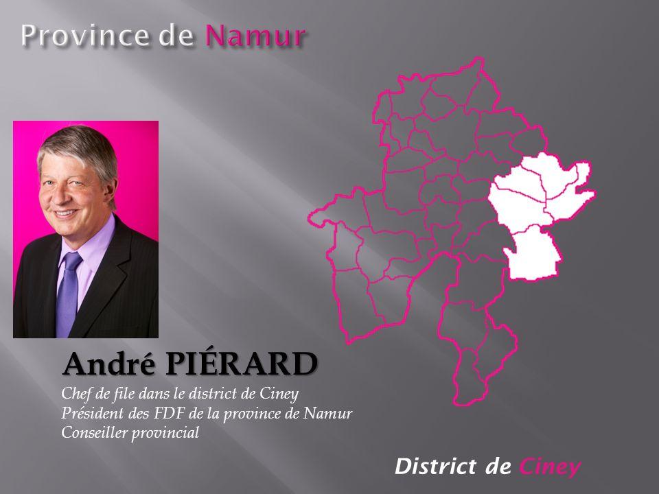André PIéRARD Province de Namur District de Ciney