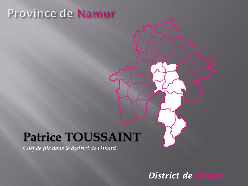 Patrice TOUSSAINT Province de Namur District de Dinant