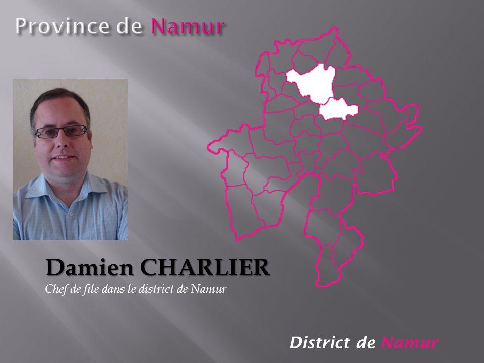 Damien CHARLIER Province de Namur District de Namur