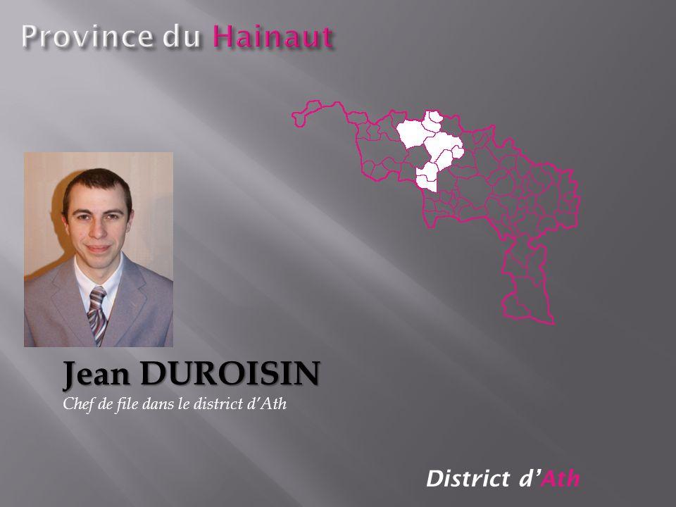 Jean DUROISIN Province du Hainaut District d'Ath