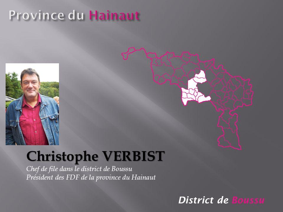 Christophe VERBIST Province du Hainaut District de Boussu