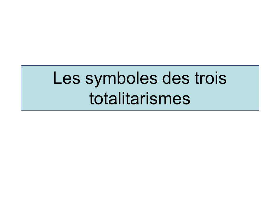 Les symboles des trois totalitarismes