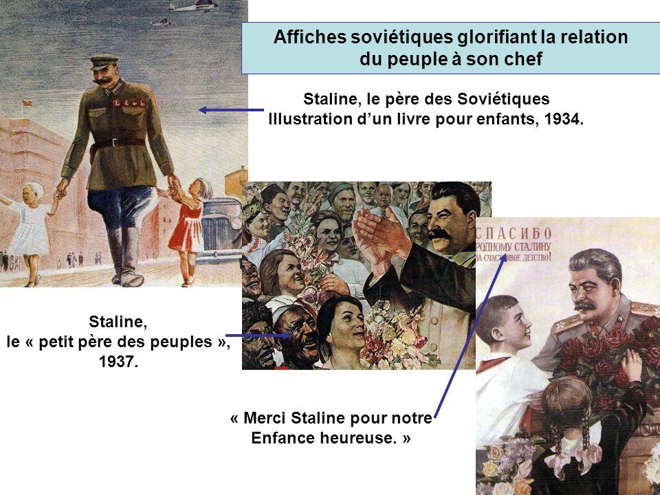 Affiches soviétiques glorifiant la relation du peuple à son chef