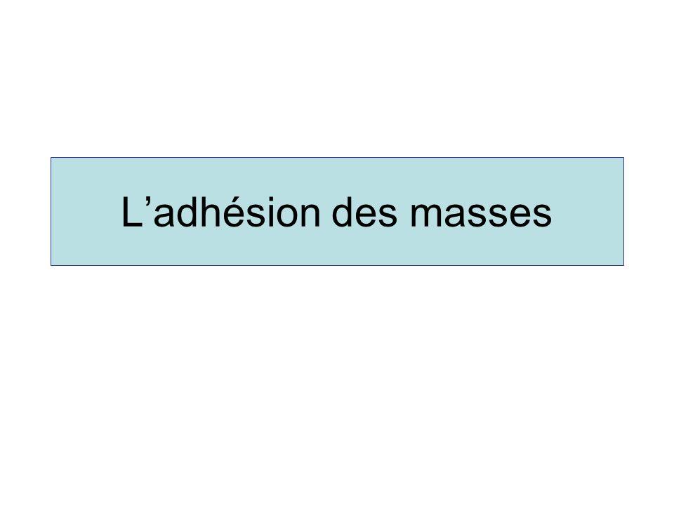 L'adhésion des masses