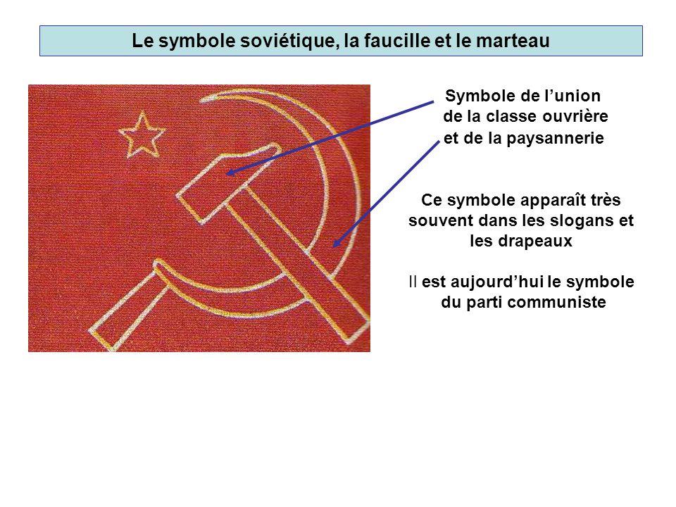 Le symbole soviétique, la faucille et le marteau