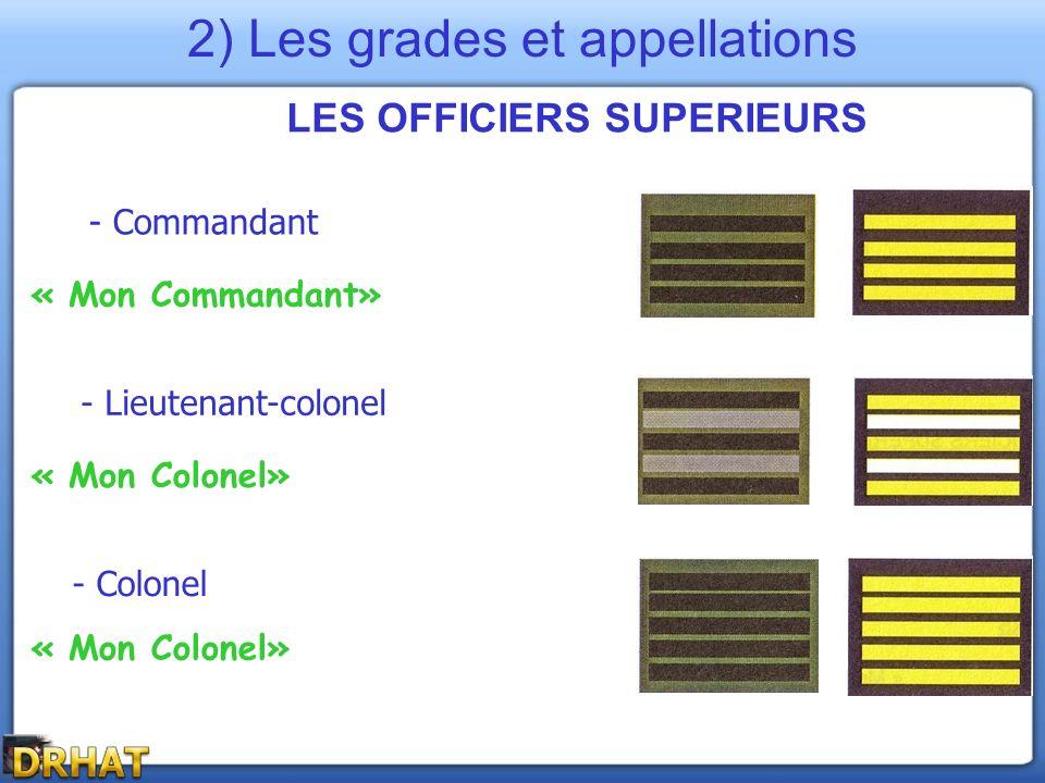LES OFFICIERS SUPERIEURS