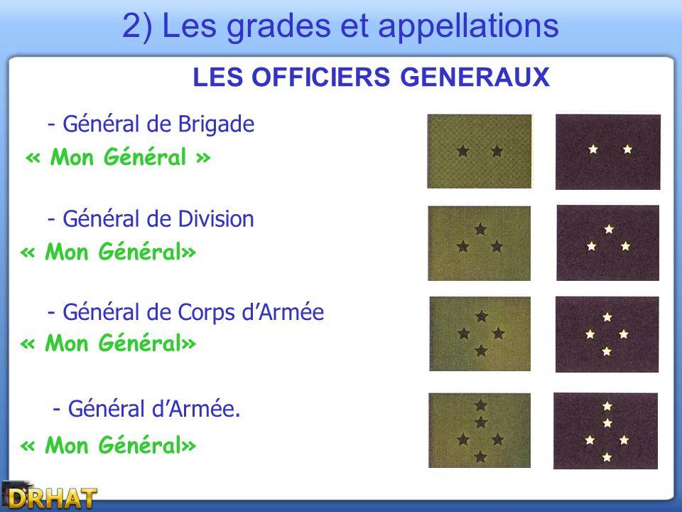 LES OFFICIERS GENERAUX