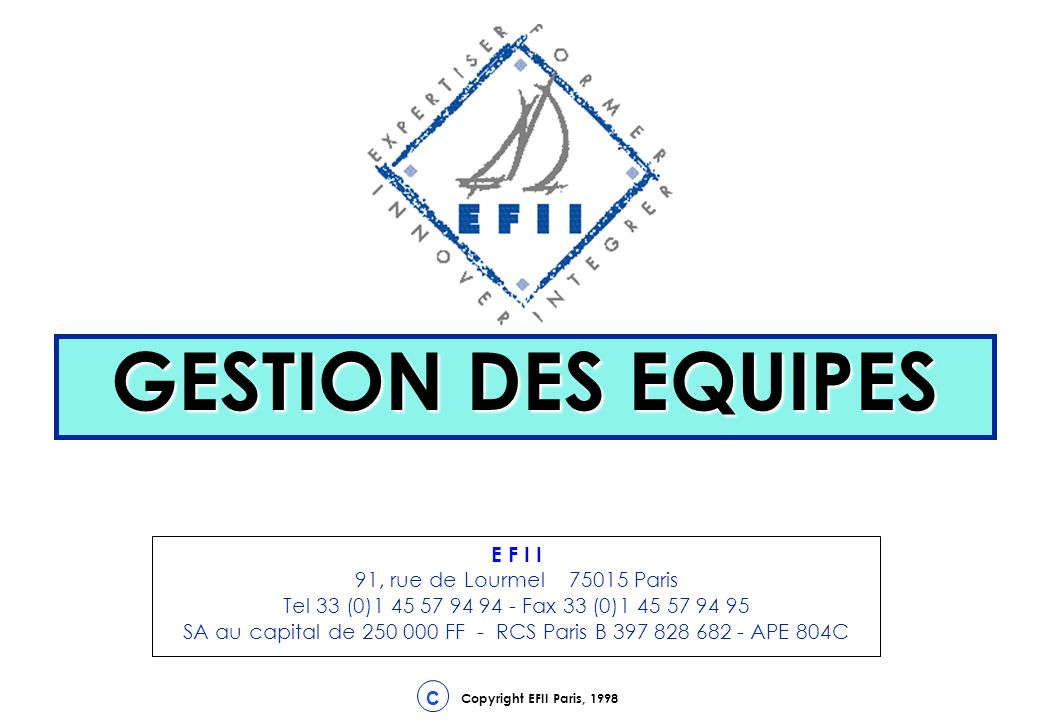 GESTION DES EQUIPES