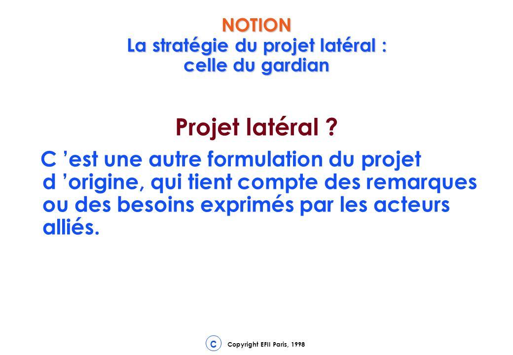 NOTION La stratégie du projet latéral : celle du gardian