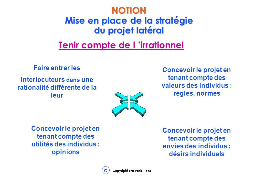 NOTION Mise en place de la stratégie du projet latéral