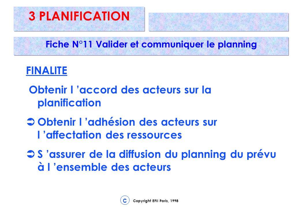 Fiche N°11 Valider et communiquer le planning