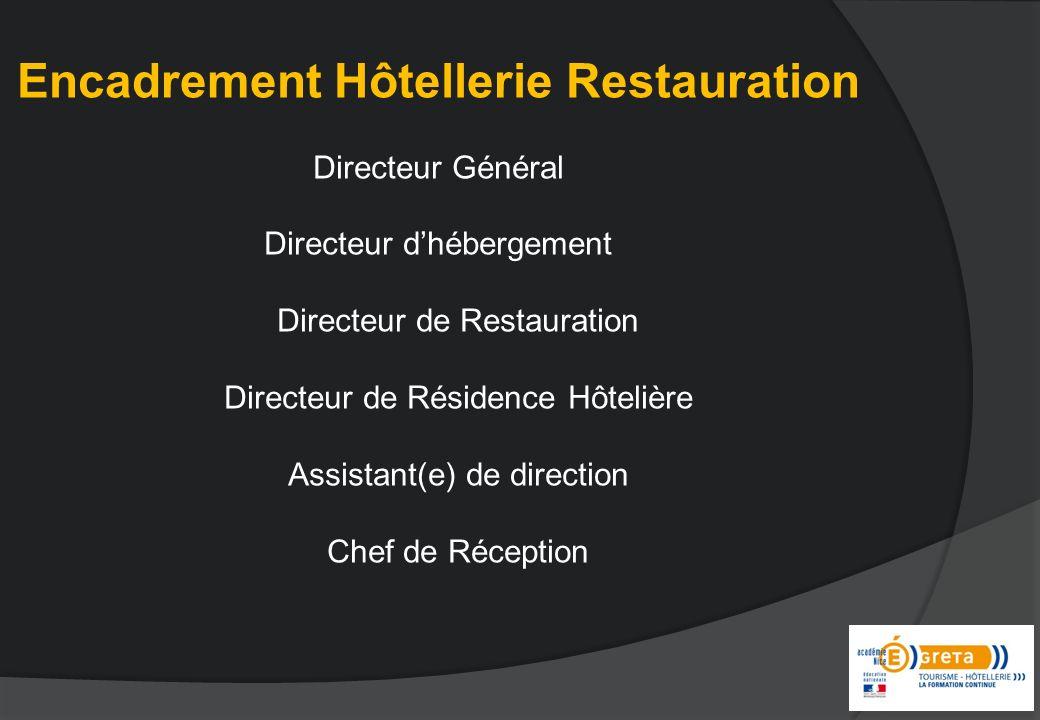 Encadrement Hôtellerie Restauration