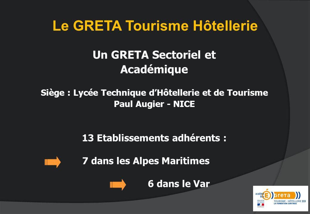Le GRETA Tourisme Hôtellerie