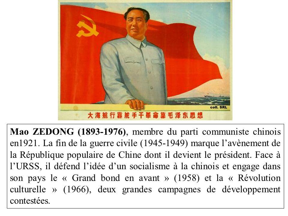 Mao ZEDONG (1893-1976), membre du parti communiste chinois en1921