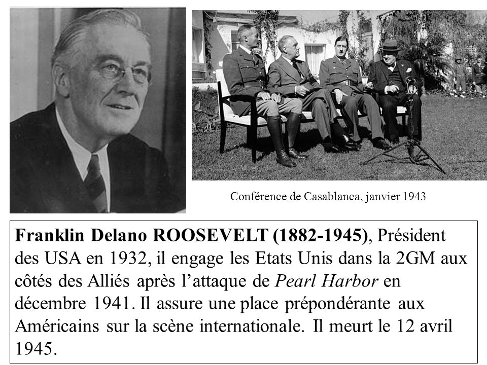 Conférence de Casablanca, janvier 1943