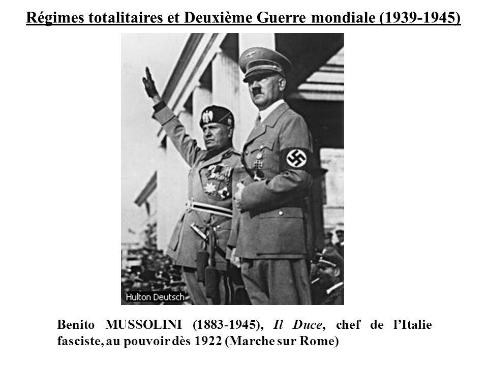 Régimes totalitaires et Deuxième Guerre mondiale (1939-1945)