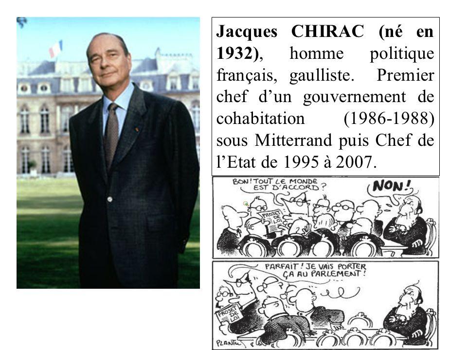Jacques CHIRAC (né en 1932), homme politique français, gaulliste