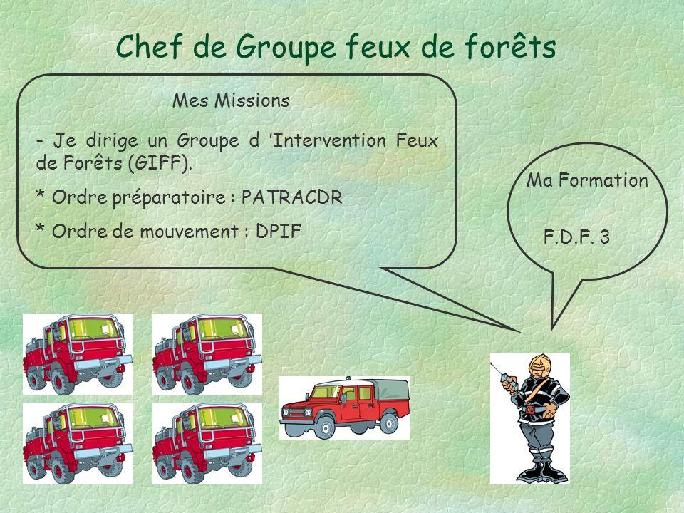 Chef de Groupe feux de forêts