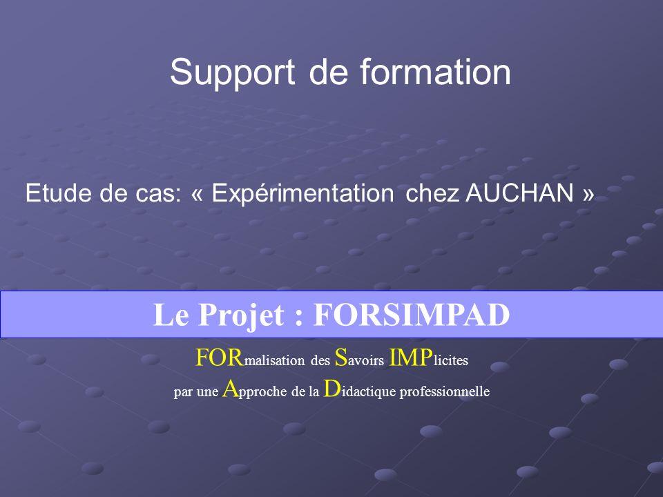 Support de formation Le Projet : FORSIMPAD