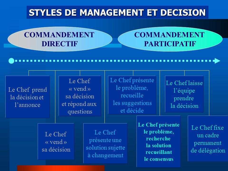 STYLES DE MANAGEMENT ET DECISION
