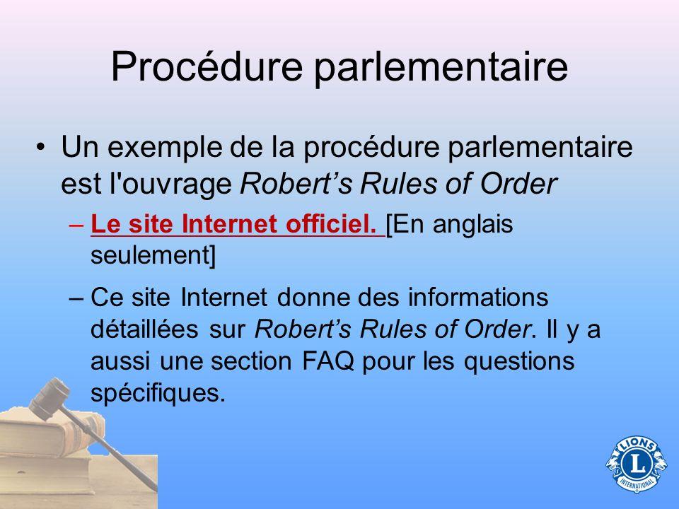Procédure parlementaire