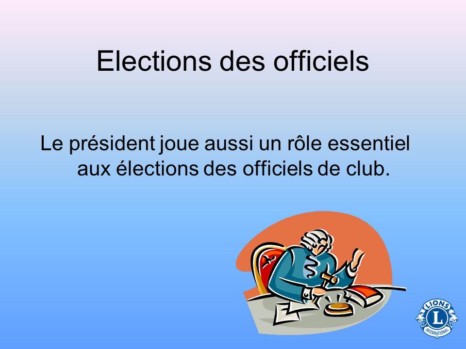 Elections des officiels
