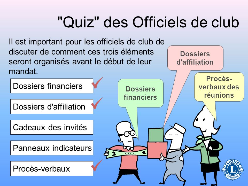 Quiz des Officiels de club