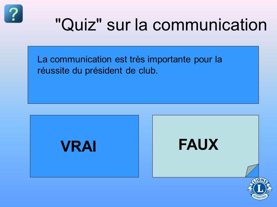 Quiz sur la communication
