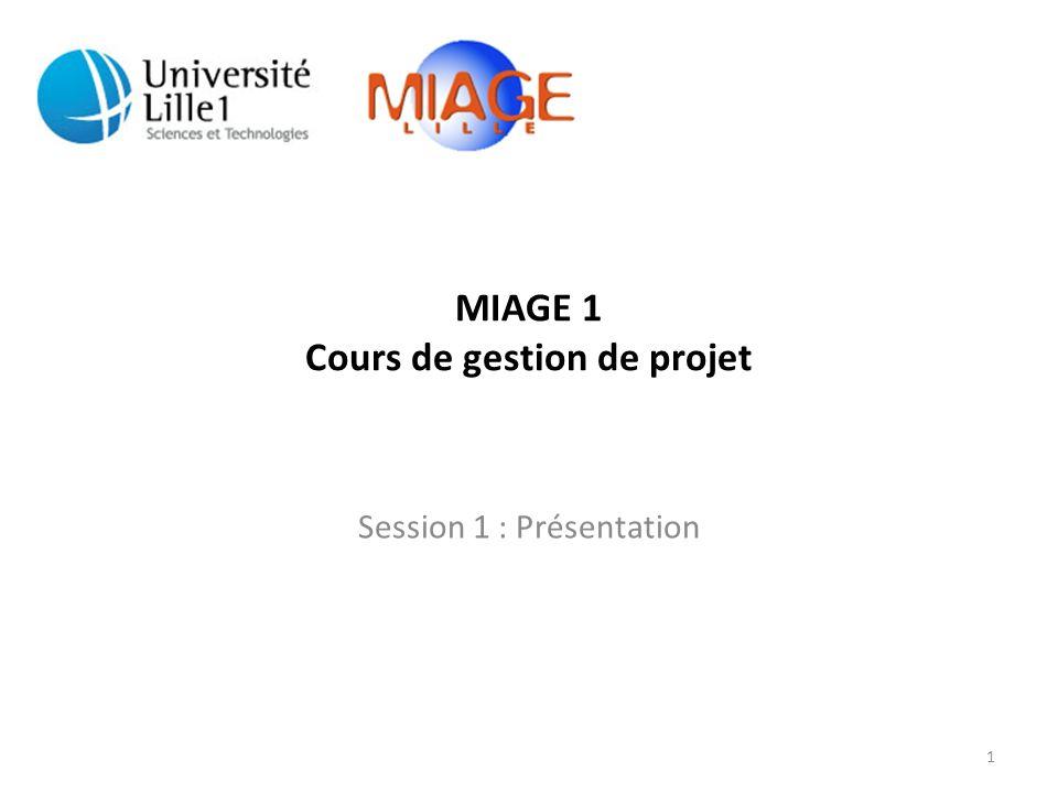 MIAGE 1 Cours de gestion de projet