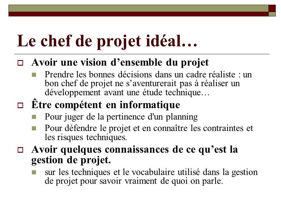 Le chef de projet idéal…