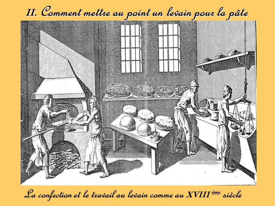 II. Comment mettre au point un levain pour la pâte